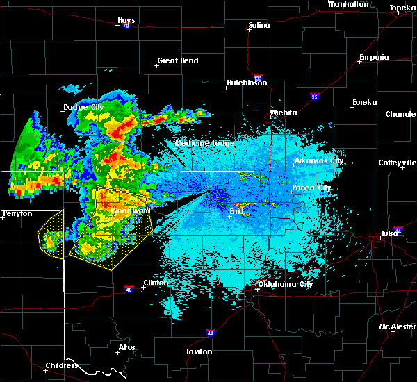 Radar Image for Severe Thunderstorms near Woodward, OK at 5/30/2018 11:09 PM CDT