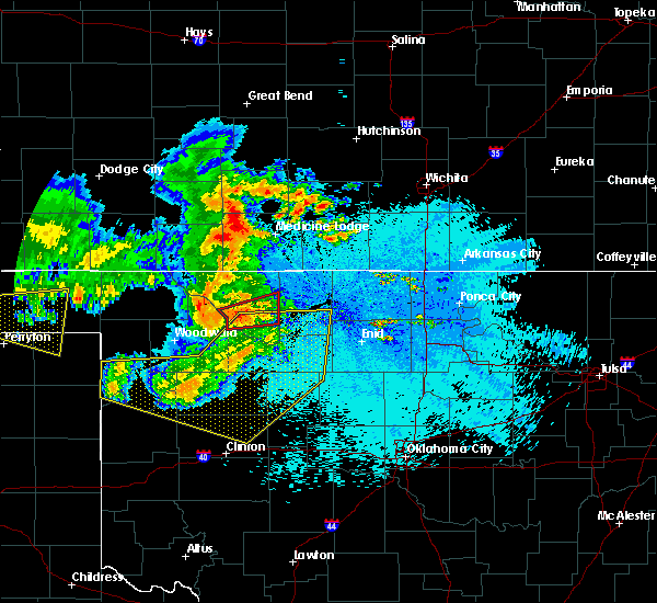 Radar Image for Severe Thunderstorms near Jet, OK at 5/30/2018 11:40 PM CDT