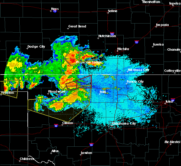 Radar Image for Severe Thunderstorms near Jet, OK at 5/30/2018 11:53 PM CDT