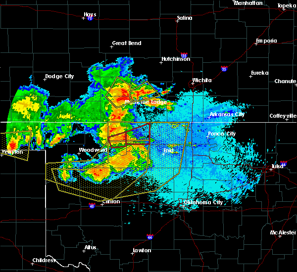 Radar Image for Severe Thunderstorms near Jet, OK at 5/30/2018 11:59 PM CDT