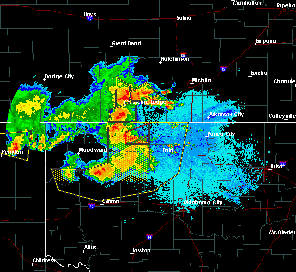 Radar Image for Severe Thunderstorms near Jet, OK at 5/31/2018 12:05 AM CDT
