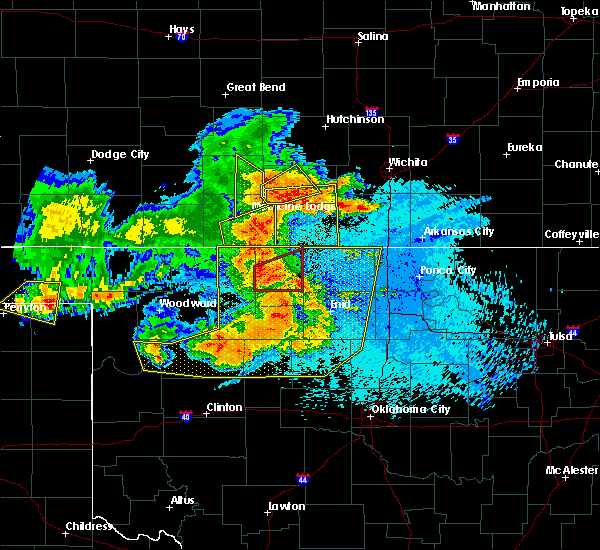 Radar Image for Severe Thunderstorms near Ames, OK at 5/31/2018 12:20 AM CDT