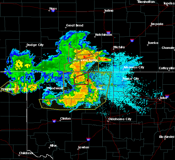 Radar Image for Severe Thunderstorms near Jet, OK at 5/31/2018 12:27 AM CDT