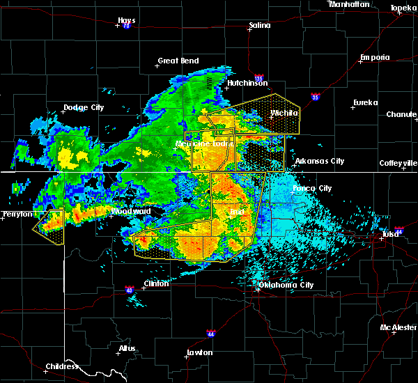 Radar Image for Severe Thunderstorms near Ames, OK at 5/31/2018 12:51 AM CDT