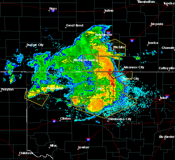 Radar Image for Severe Thunderstorms near Hitchcock, OK at 5/31/2018 1:15 AM CDT