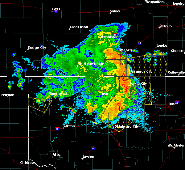 Radar Image for Severe Thunderstorms near Yale, OK at 5/31/2018 1:33 AM CDT