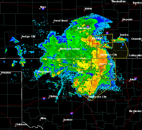 Radar Image for Severe Thunderstorms near Cleveland, OK at 5/31/2018 1:52 AM CDT