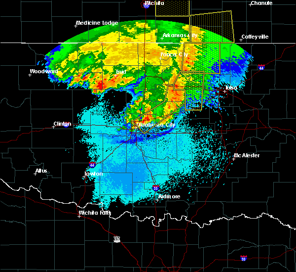 Radar Image for Severe Thunderstorms near Yale, OK at 5/31/2018 2:20 AM CDT