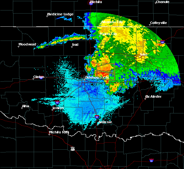 Radar Image for Severe Thunderstorms near Prague, OK at 5/31/2018 3:57 AM CDT
