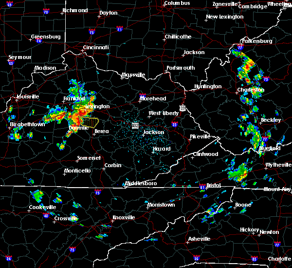Radar Image for Severe Thunderstorms near Richmond, KY at 5/31/2018 12:20 PM EDT