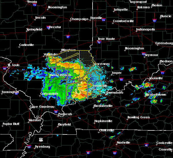 Radar Image for Severe Thunderstorms near Decker, IN at 5/31/2018 12:26 PM EDT