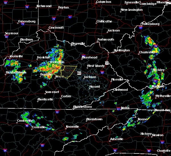 Radar Image for Severe Thunderstorms near Stanton, KY at 5/31/2018 12:46 PM EDT