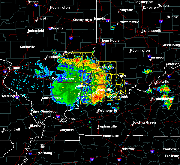 Radar Image for Severe Thunderstorms near Henderson, KY at 5/31/2018 11:58 AM CDT