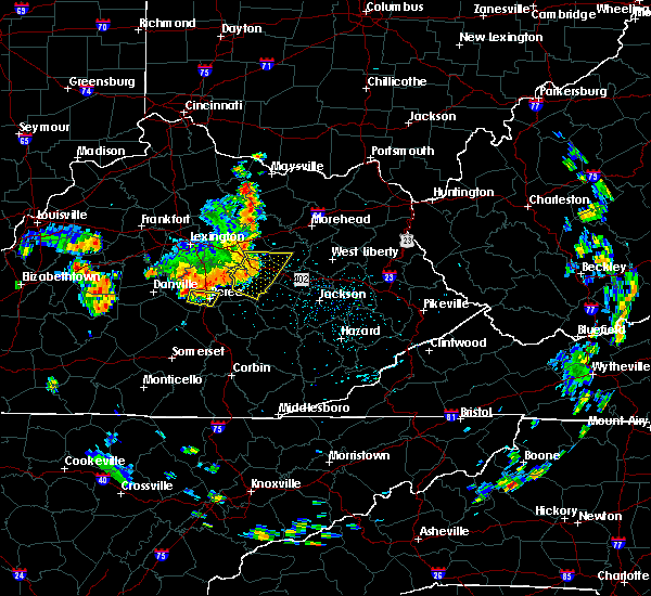 Radar Image for Severe Thunderstorms near Richmond, KY at 5/31/2018 1:10 PM EDT