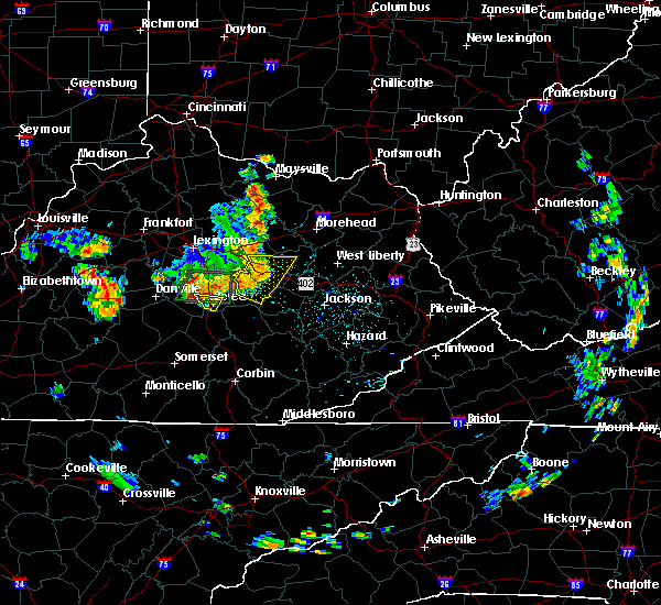 Radar Image for Severe Thunderstorms near Stanton, KY at 5/31/2018 1:13 PM EDT
