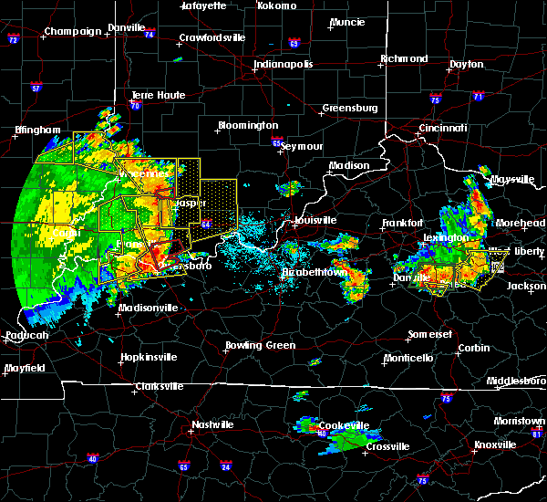 Radar Image for Severe Thunderstorms near Dubois, IN at 5/31/2018 1:16 PM EDT