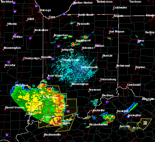 Radar Image for Severe Thunderstorms near Avoca, IN at 5/31/2018 1:28 PM EDT