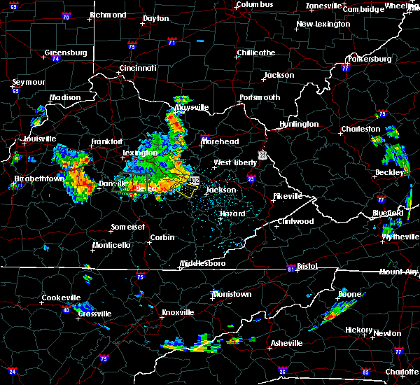 Radar Image for Severe Thunderstorms near Beattyville, KY at 5/31/2018 1:35 PM EDT