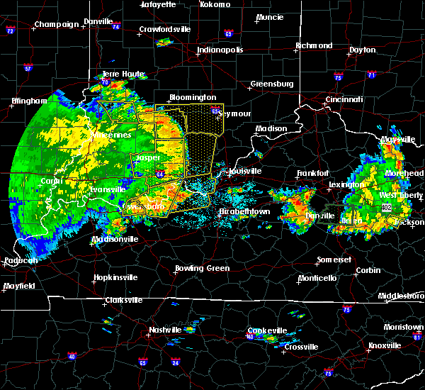 Radar Image for Severe Thunderstorms near Greenville, IN at 5/31/2018 1:56 PM EDT