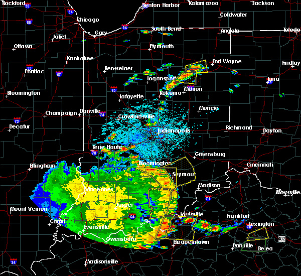 Radar Image for Severe Thunderstorms near Hope, IN at 5/31/2018 2:27 PM EDT