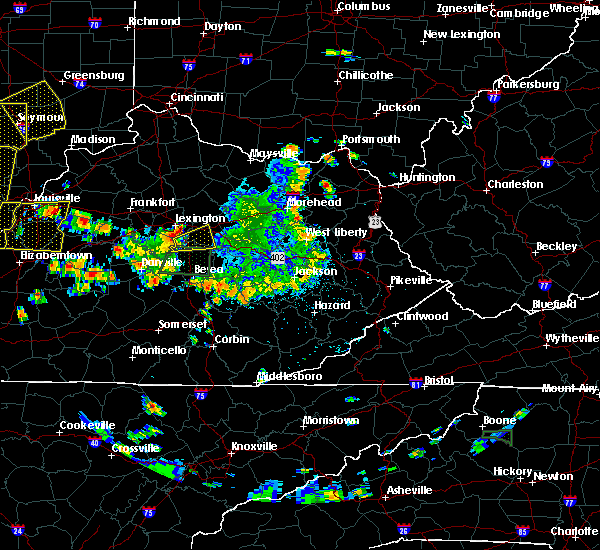 Radar Image for Severe Thunderstorms near Winchester, KY at 5/31/2018 2:26 PM EDT