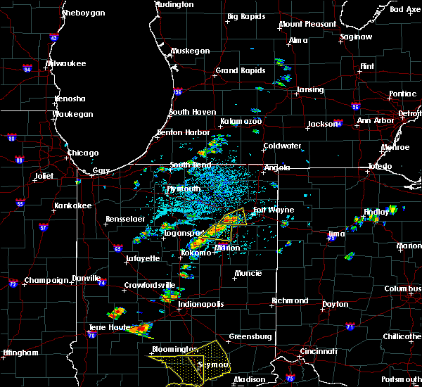 Radar Image for Severe Thunderstorms near Fort Wayne, IN at 5/31/2018 2:29 PM EDT