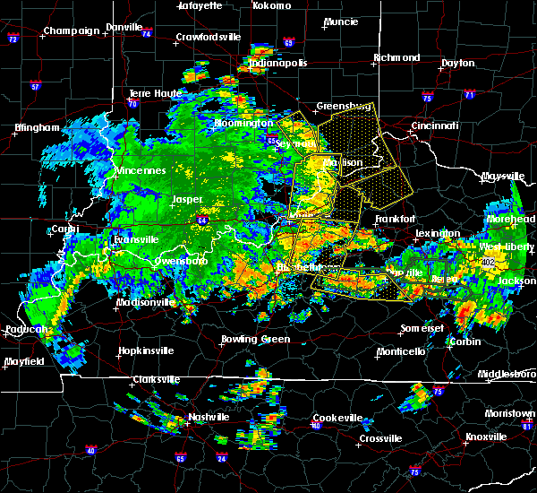 Radar Image for Severe Thunderstorms near Eminence, KY at 5/31/2018 2:58 PM EDT