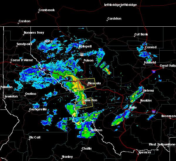 Radar Image for Severe Thunderstorms near Piltzville, MT at 5/31/2018 1:26 PM MDT