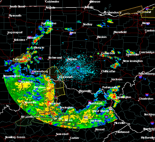 Radar Image for Severe Thunderstorms near Dayton, OH at 5/31/2018 3:39 PM EDT