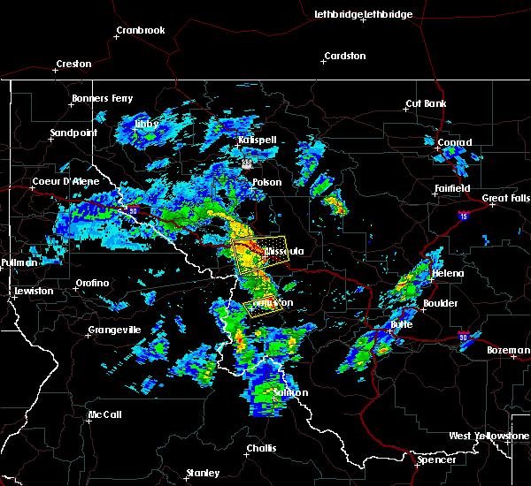 Radar Image for Severe Thunderstorms near Piltzville, MT at 5/31/2018 1:45 PM MDT