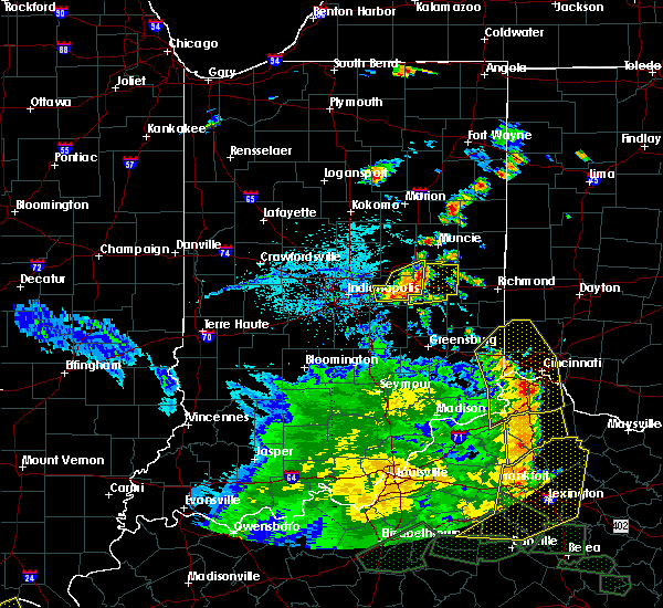 Radar Image for Severe Thunderstorms near Carthage, IN at 5/31/2018 3:51 PM EDT