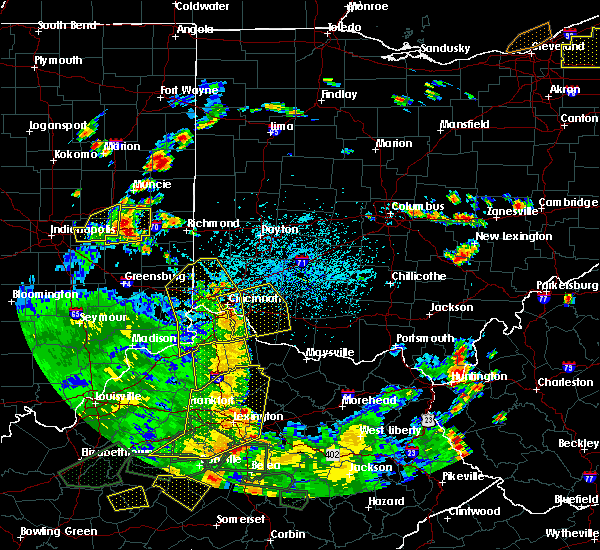 Radar Image for Severe Thunderstorms near Dayton, OH at 5/31/2018 4:02 PM EDT
