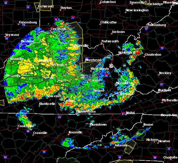Radar Image for Severe Thunderstorms near Stanton, KY at 5/31/2018 4:46 PM EDT