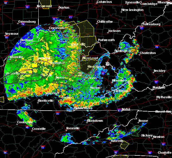 Radar Image for Severe Thunderstorms near Morehead, KY at 5/31/2018 4:55 PM EDT