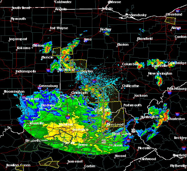 Radar Image for Severe Thunderstorms near Trotwood, OH at 5/31/2018 5:02 PM EDT