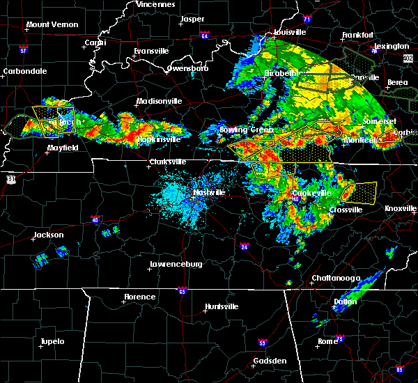 Radar Image for Severe Thunderstorms near Gamaliel, KY at 5/31/2018 4:22 PM CDT