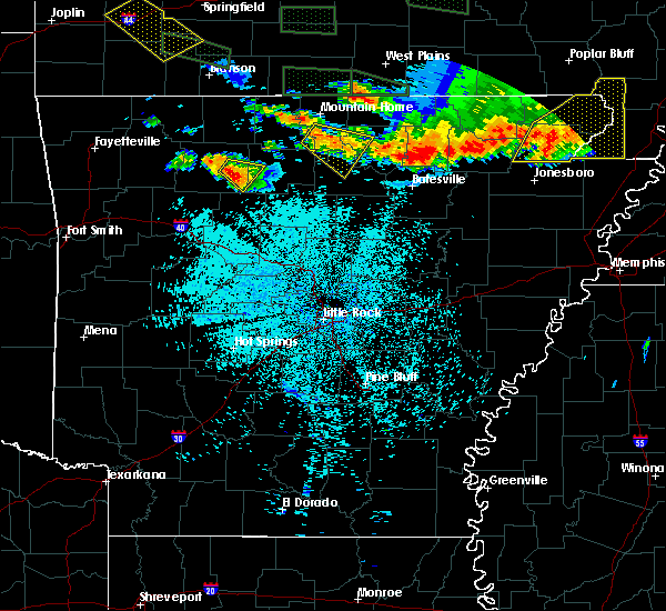 Radar Image for Severe Thunderstorms near Norfork, AR at 5/31/2018 11:55 PM CDT
