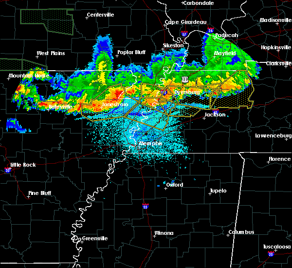 Radar Image for Severe Thunderstorms near Paragould, AR at 6/1/2018 12:45 AM CDT