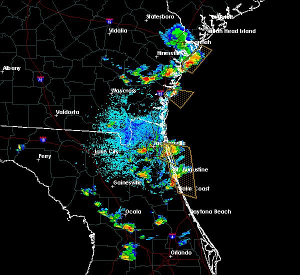 Radar Image for Severe Thunderstorms near Jacksonville, FL at 6/1/2018 4:14 PM EDT