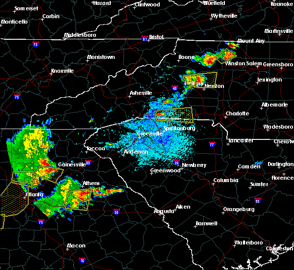 Radar Image for Severe Thunderstorms near Spindale, NC at 6/1/2018 4:14 PM EDT