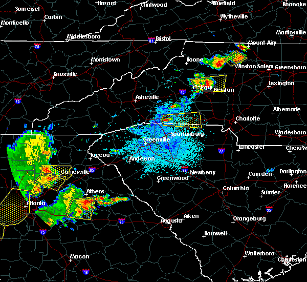 Radar Image for Severe Thunderstorms near Hudson, NC at 6/1/2018 4:18 PM EDT