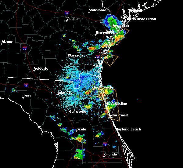 Radar Image for Severe Thunderstorms near Jacksonville, FL at 6/1/2018 4:21 PM EDT