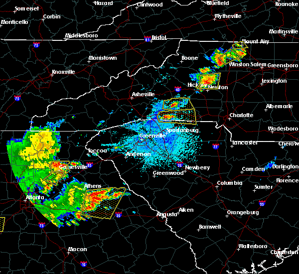 Radar Image for Severe Thunderstorms near Taylorsville, NC at 6/1/2018 4:36 PM EDT
