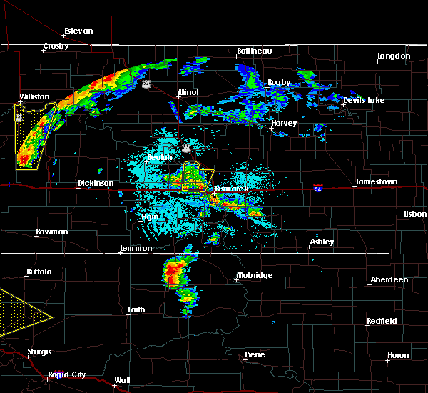Radar Image for Severe Thunderstorms near Mandan, ND at 6/1/2018 4:15 PM CDT