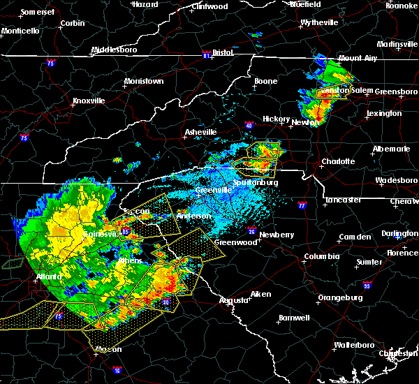 Radar Image for Severe Thunderstorms near Due West, SC at 6/1/2018 5:22 PM EDT