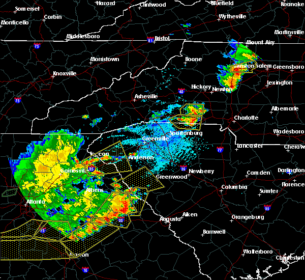 Radar Image for Severe Thunderstorms near Henrietta, NC at 6/1/2018 5:25 PM EDT