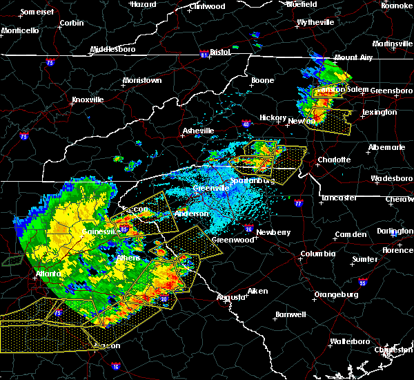Radar Image for Severe Thunderstorms near Spencer Mountain, NC at 6/1/2018 5:31 PM EDT