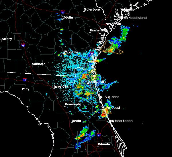Radar Image for Severe Thunderstorms near Yulee, FL at 6/1/2018 5:34 PM EDT
