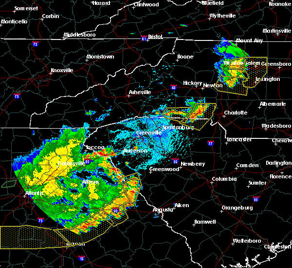 Radar Image for Severe Thunderstorms near Spencer Mountain, NC at 6/1/2018 5:50 PM EDT