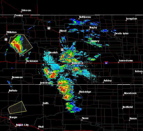 Radar Image for Severe Thunderstorms near Timber Lake, SD at 6/1/2018 4:09 PM MDT